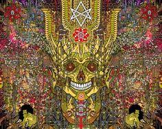 A Sneak Peek at the Upcoming Florian Bertmer / Seldon Hunt Collaborative Art Print - OMG Posters! Music Artwork, Metal Artwork, Ink Illustrations, Digital Illustration, Omg Posters, Chaos Magic, Collaborative Art, Surreal Art, Skull Art