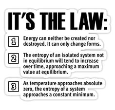 Image result for images of the three laws of thermodynamics