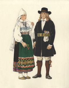 ERM EJ 415:12, Eesti Rahva Muuseum,   Woman from Kuusalu, North Estonia, end of 18th century. Man from North Estonia I part of 18th century.  http://muis.ee/museaalview/732317 Eesti muuseumide veebivärav - Kuusalu kihelkonna ja Põhja-eesti rahvarõivad