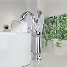 81.18$  Buy here - http://aliyfd.worldwells.pw/go.php?t=32395695568 -  high quality brass Basin Faucet Torneira Tall New Swan Waterfall Bathroom Chrome Single Handle Sink Faucets,Mixers &Taps