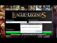 Générateur de Riot Points Gratuit - Comment Avoir des Riot Points Gratuit sur League of Legends 2013
