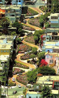 Lombard Street, em São Francisco  www.ideafixa.com