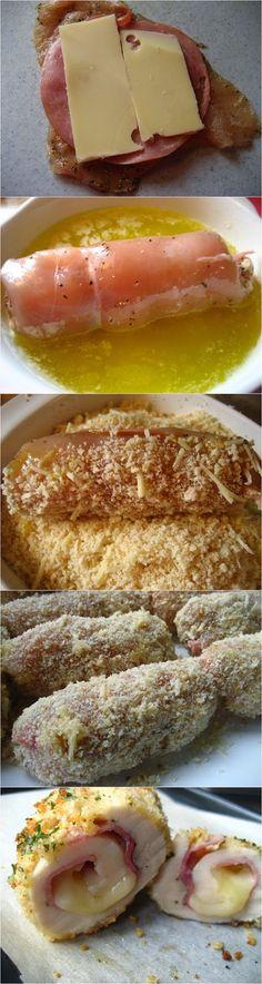 Easy Baked Chicken Cordon Bleu ~ knowkitchen