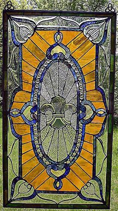 Fleur De Lis Stained Glass Door...beautiful and so New Orleans :)