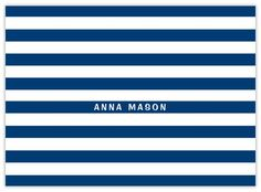 Striped + Navy - CardsDirect Notecards