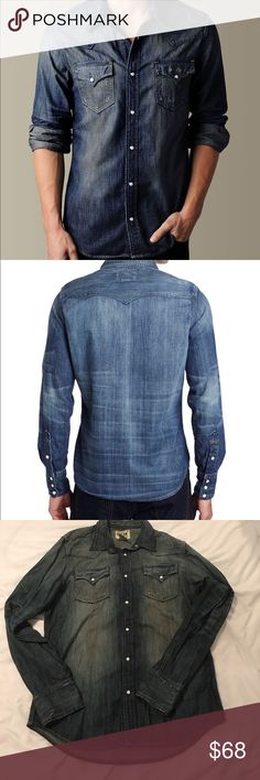 True Religion Denim JAKE PHOENIX WESTERN Shirt Men's True Religion Denim JAKE PHOENIX WESTERN Shirt. Worn a couple times. Dry cleaned. True Religion Shirts Casual Button Down Shirts