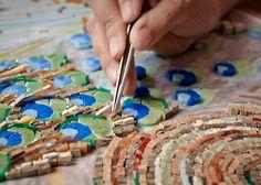 Peacock Mosaic Patterns - Work In Progress - Mosaic Kit - Mosaic Kitup - Tiles - Colorful Smalti Tiles - Mozaico Smalti Mosaic Studio – Micro Mosaic Project – Work in Progress – Mosaic Kit - Mosaic Kitup - Handcrafting Mosaics | Mozaico