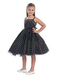 #FlowerGirlDresses  - Flower Girl Dress Style 5503 - Super Cute Satin Bodice and Tulle Skirt Party Dress