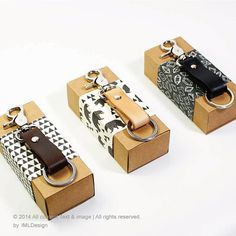 Leather key fob Natural leather key fob Handmade by DpiProduction, $28.00