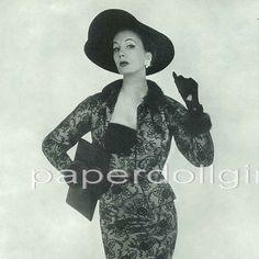 UK Vogue 1954 Magazine Advertisement JULIAN ROSE Late Day Sheath