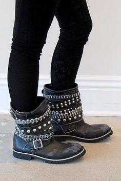 Tao Comme des Garcons Studded Boots.