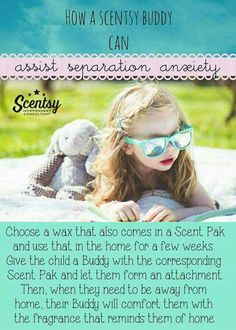 The comfort that our buddies bring goes deeper than you may think! This is brilliant, I wish I had a Scentsy Buddy when I was a kid, I was never able to spend a whole night away from home and I think this would have really helped! *Message me for orders and details. Click the photo to visit my website.