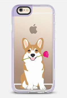 Corgi Love red rose - New Standard Case in Lavender Violet by Pet Friendly | @casetify