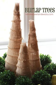 DIY Burlap Christmas Trees!!