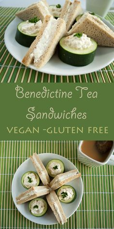 Benedictine Tea Sandwiches (vegan, gluten free) -These easy tea sandwiches are great for a light lunch or snack. They are creamy and satisfying!