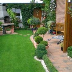 Wood Fence Gates, Outdoor Lighting, Outdoor Decor, Terrace Garden, Small Gardens, Play Houses, Garden Furniture, Outdoor Spaces, Stepping Stones