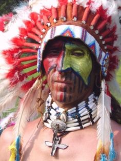 Costume idea for Barbarian if you want to add a Native American flair.