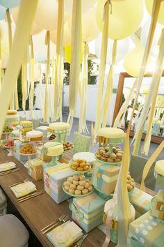 Pastel dessert table. Whimsical.