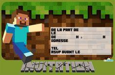 Télécharger invitation anniversaire Minecraft