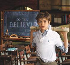 Pan Actor Levi Miller for Polo Ralph Lauren Fall/Winter 2015 Childrenswear Campaign