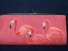 (vu) Flamingo Clutch by ChairactersOddballs on Etsy, $40.00