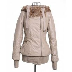 $38.49 Fashionable Style Long Sleeves Cotton Solid Color Hooded Zipper Women's Coat
