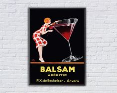 Balsam Aperitif Food&Drink Poster - Poster Paper, Sticker or Canvas Print…