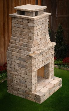 """DIY Outdoor Fireplace Kit """"Princeton"""" is upscale luxury you can afford. Build Outdoor Fireplace, Outdoor Fireplace Designs, Backyard Fireplace, Diy Fireplace, Outdoor Fireplaces, Outdoor Spaces, Outdoor Living, Outdoor Decor, Outdoor Patios"""