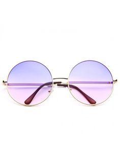 Lennon 5 Oversized Metal Round Split Tint Sunglasses