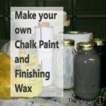 A Chalk Paint Recipe http://flyingc-diy.com