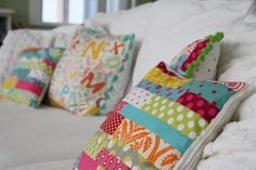 Pillows for the Playroom... ADORABLE!!!