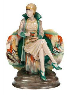 "Art Deco ""Afternoon Tea"" Clarice Cliff Colourway"