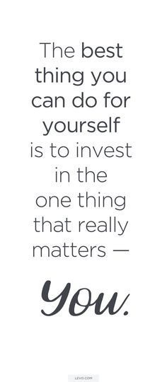 There is NO better time than now! We think it's about time, don't you? This month is dedicated to investing in the one thing that really matters - You. In partnership with @tresemme. Follow along and #InvestInYourself! http://levo.im/invest-in-you