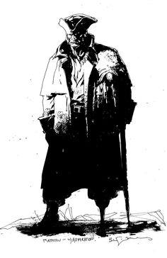Bill Sienkiewicz    Sketch of Long John Silver