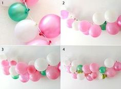 Hanged from the ceiling maybe 🤔 Girl Baby Shower Decorations, Birthday Party Decorations, Balloon Arch, Balloon Garland, Diy Birthday, First Birthday Parties, Deco Ballon, Balloon Centerpieces, Party In A Box