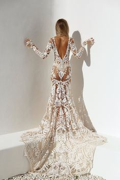 The ethereal Bohemian Wedding Dresses come with an assortment of silhouettes and materials. Wedding Dress Trends, Sexy Wedding Dresses, Wedding Attire, Bridal Dresses, Wedding Day, Bridesmaid Dresses, Boho Chic Wedding Dress, Bella Wedding, Civil Wedding