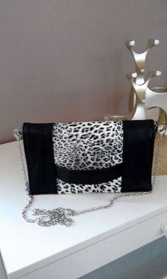 Pochette Cachôtin léopard cousue par Christiane - Patron gratuit pochette Sacôtin