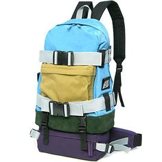 Collaboration Backpack. One regular sized back pack, one smaller waist pouch, or put them together for a larger pack. Great for anyone who needs versatility in their travel bags