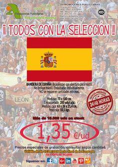 ¡¡ 2A - Oferta BANDERAS ESPAÑA Eurocopa 2016 !!  NO se requieren cantidades mínimas.  Para más información y solicitud de presupuestos, sin ningún tipo de compromiso, no dude en contactarnos:  2A PROMOCIONES PUBLICITARIAS, S.L. Alcázar de Toledo 4, 1º B. 24001 León Telf. 987 272 176 / 902 322 122 Móvil. 606 333 467 Fax. 987 221 215 E-mail: info@2apublic.com Web: www.2apublic.com  #eurocopa #futbol #publicidad #comunicacion #marketing #regalosdeempresa #leonesp #merchandising #Euro2016