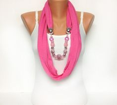pink jewlery scarve goes great with anything #PackingSpree!