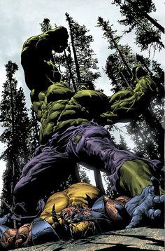 The Hulk battles Wolverineby Mike Deodato jr