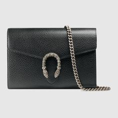 Gucci Dionysus Leather Mini Chain Bag.