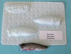 Create your own lure patterns with these custom formed lure stencils
