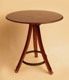 Another Side Table with Wine Barrel Lid Top