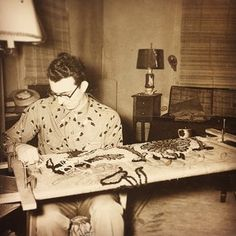 Hipster boys in glasses getting into crafting.   21 Glimpses Into The Past That Prove Some Things Never Change