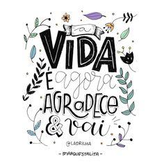 """1,162 curtidas, 10 comentários - Talita Marques (@marquestalita) no Instagram: """"Agradece e vai, ✨ // artezinha finalizada da frase da lindoca da @ladrilha . #marquestalita"""""""