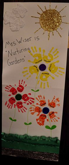 """The first week in May is traditionally Teacher appreciation week. I was the PTO rep over this week. I choose a theme of """"Nurturing Gard..."""