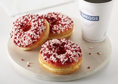 The Eton Mess donut. Definitely not a health food. And only 80p too from Greggs, bargain.