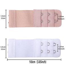 1cd0051936c0c Senkary 8 Pieces Bra Extenders 2 Hooks 3 Rows Elastic Bra Strap Extenders  Bra Band Extension for Women Ladies