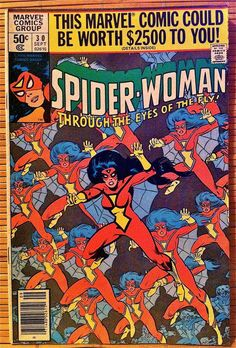 Spider-Woman Marvel Comics - Issue 30 - 1980 Marvel Comic books  coverPeter Parker web